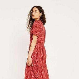 Urban Outfitters polka dot midi dress.
